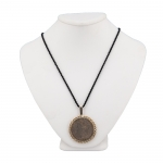 Framed Silver Dollar Pendant on Black Cord