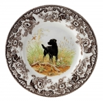 Woodland Black Labrador Dinner Plate
