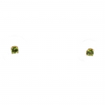 Square Cut Peridot Stud Earrings