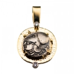Coin Pendant with Diamond Accent