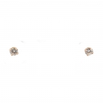 Moisanite and Rose Gold Stud Earrings