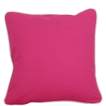 Hot Pink Pillow with Natural Trim