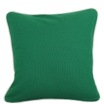 Emerald Pillow with Natural Trim