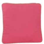 Coral Pillow with Natural Trim