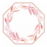 Rose \Leaves\ Reversible Octagonal Placemats, Set of 4