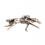 Running Horse Tie Bar - High Polish