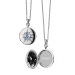 Round \Burst\ Locket with Blue Sapphires