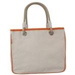 Rope Tote, Natural with Orange