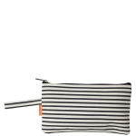 Clutch, Natural and Navy Stripes