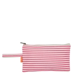 Natural and Hot Pink Striped Clutch