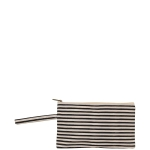 Clutch, Natural and Black Stripes