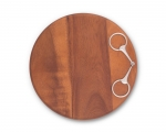Wood Cheese Board with Equestrian Bit