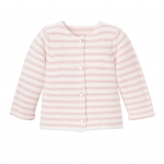 Pink Paris Stripe Cardigan, 12M