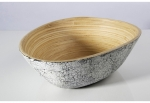 Large Mango Salad Bowl Inlaid with Eggshell