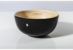 Large Black Bamboo Salad Bowl