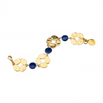 Gold Leaf and Lapis Bracelet