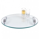 Contempo Oval Glass Serving Tray