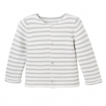 Gray Paris Stripe Cardigan, 12M