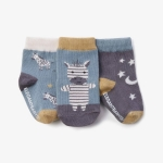 Zebra Cotton Baby Socks, Pack of 3
