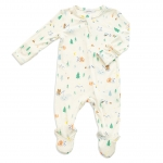 Little Camper Zipper Footie, 0-3 Months