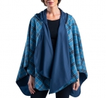 Blue Plaid and Navy Rainproof Warmcaper