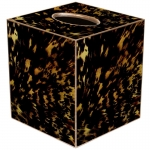 Tortoise Shell Paper Mache Tissue Box Cover