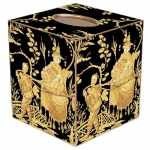 Asian Toile Paper Mache Tissue Box Cover