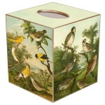 Birds Paper Mache Tissue Box Cover