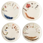 Forest Walk Sentiments Tidbit Plates, Set of 4