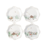 North Pole Dessert or Salad Plates, Set of Four