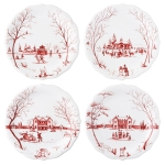 Winter Frolic Mr. & Mrs. Claus Party Plates, Set of 4