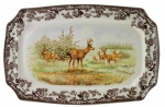 Woodland Mule Deer Rectangular Platter