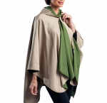 Olive and Camel Travel Cape