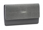 Gray Shagreen Wallet/Clutch
