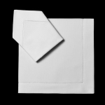 White Classic Linen Dinner Napkin, Set of 4