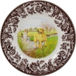 Woodland Yellow Labrador Salad Plate