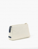 The Medium Canvas Pouch Pebble Navy