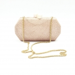 Pink Taupe Handwoven Clutch