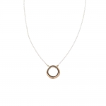 Tri-Toned Multi-Rounded Square Necklace