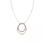 Topography Mixed Metal Necklace