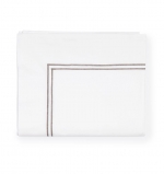 Grande Hotel White/Grey King Flat Sheet