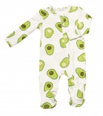 Avacado Zipper Footie, 0-3 Months