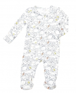 Sea Life Zipper Footie, 0-3 Months