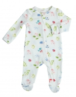 Nature\'s Notebook Ruffle Zip Footie, 0-3 Months