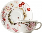 Bouquet Floral Breakfast Cup & Saucer