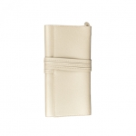 Abby Travel Jewelry Roll, Pearl White