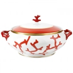 Cristobal Coral Covered Soup Tureen