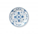 Blue Fluted Half Lace Dessert Plate