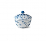 Blue Fluted Plain Sugar Bowl
