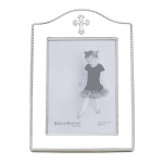 Abbey Silverplate 5x7 Cross Frame